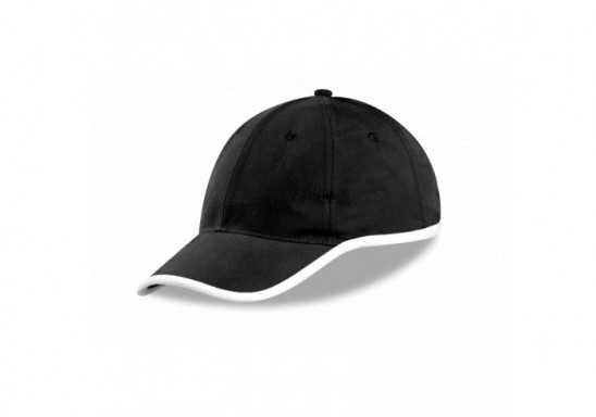 US Basic New Jersey 6 Panel Cap - Black