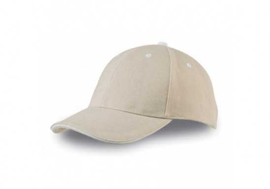 US Basic New Castle 6 Panel Sandwich Cap - Khaki