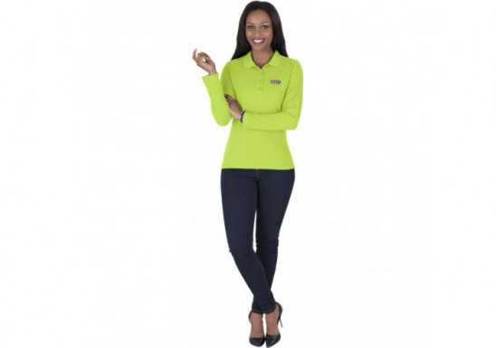 US Basic Ladies Long Sleeve Elemental Golf Shirt