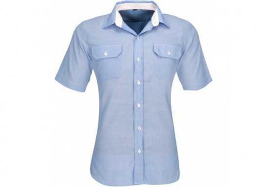 US Basic Mens Short Sleeve Windsor Shirt