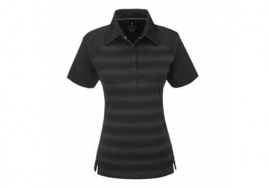 Elevate Shimmer Ladies Golf Shirt - Black