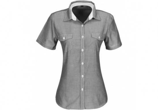 US Basic Ladies Short Sleeve Windsor Shirt