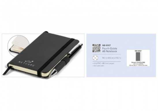 Fourth Estate A6 Notebook - Black Only