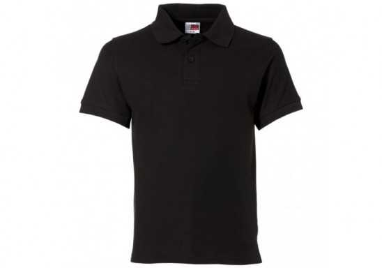 US Basic Kids Elemental Golf Shirt - Black