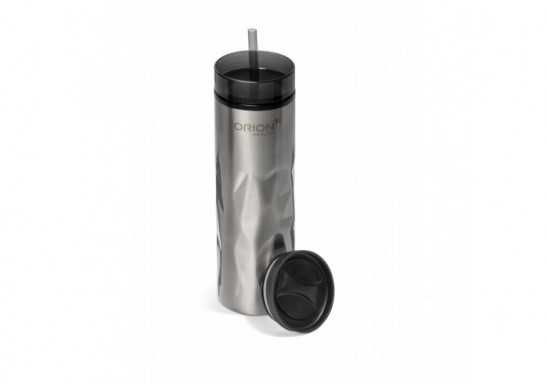 Fire & Ice 2-In-1 Double Wall Tumbler - 435Ml - Silver