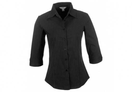Manhattan Ladies Striped 3/4 Sleeve Shirt
