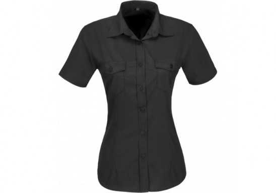 US Basic Ladies Short Sleeve Kensington Shirt - Black