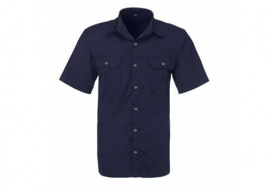 US Basic Mens Short Sleeve Wildstone Shirt - Navy