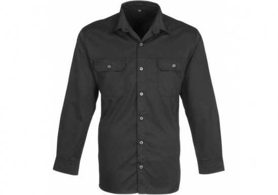 US Basic Mens Long Sleeve Wildstone Shirt - Black