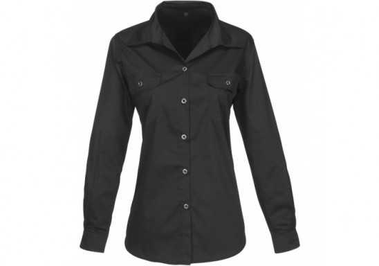 US Basic Ladies Long Sleeve Wildstone Shirt - Black