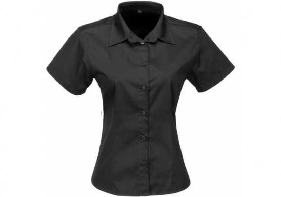 US Basic Ladies Short Sleeve Milano Shirt - Black