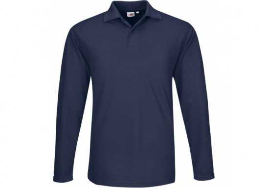 US Basic Mens Long Sleeve Elemental Golf Shirt