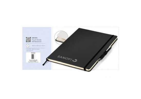 Fourth Estate A4 Notebook - Black