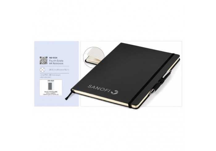 Fourth Estate A4 Notebook - Black