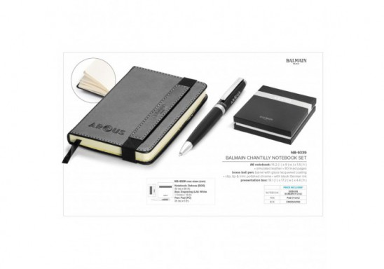 Balmain Chantilly Notebook Set