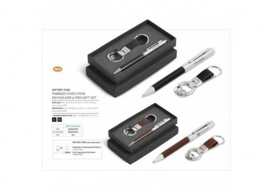Fabrizio Executive Keyholder & Pen Gift Set