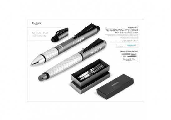 Balmain Tactical Stylus Ball Pen & Rollerball Set