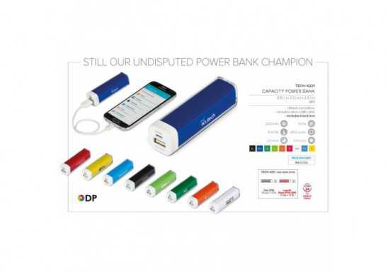 Capacity Power Bank - 2200mAh