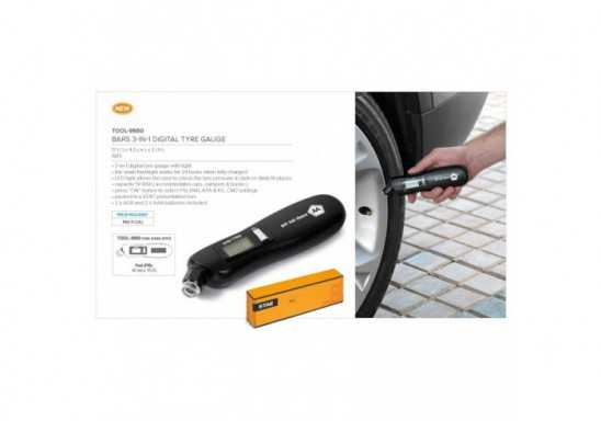 Bars 3-In-1 Digital Tyre Gauge