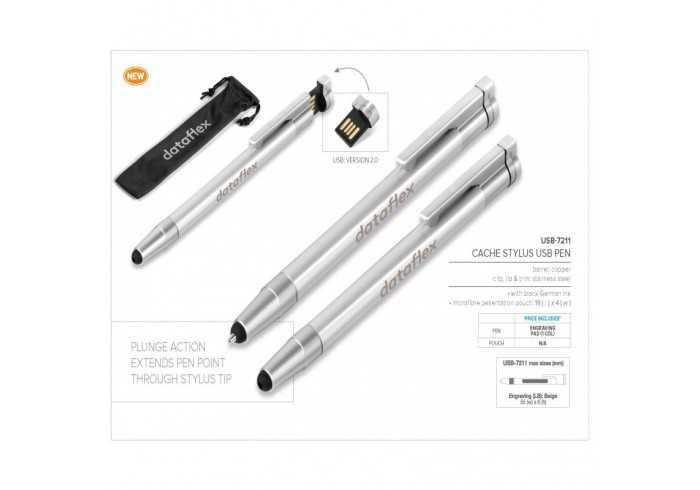 Cache USB Pen & Stylus - 8GB