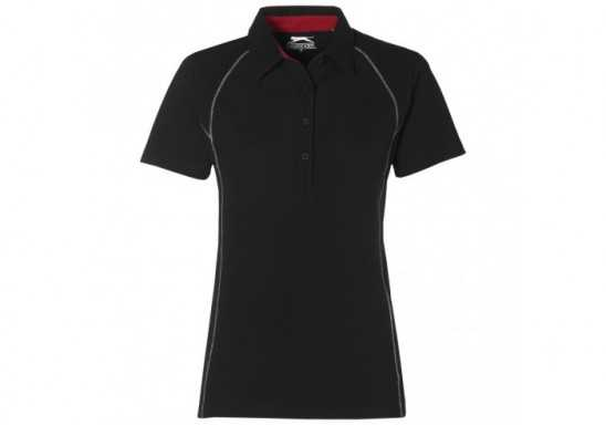 Slazenger Victory Ladies Golf Shirt - Black