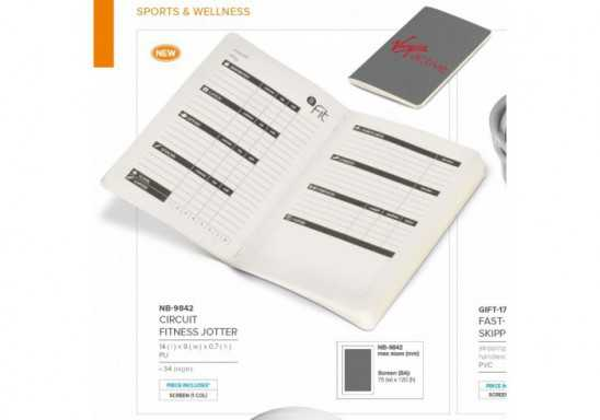 Circuit Fitness Jotter - Grey