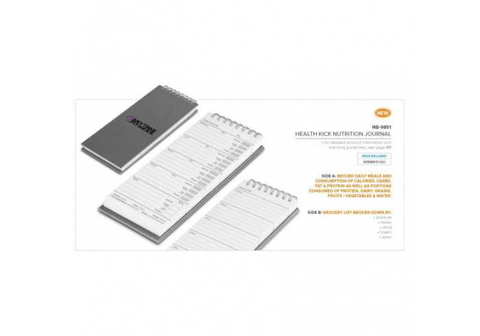 Health Kick Nutrition Journal - Grey