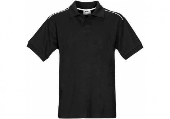 Slazenger Backhand Mens Golf Shirt - Black