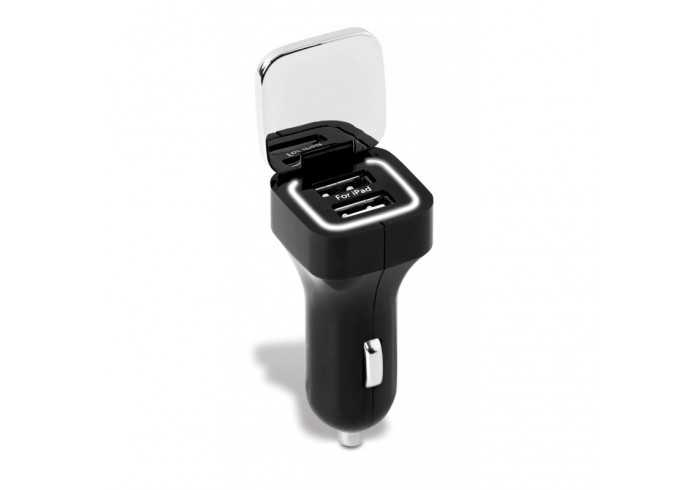 Crossroads Dual Car Charger - Black