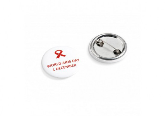 World Aids Day Button Badge