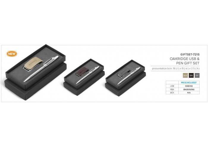 Oakridge USB Notebook Set