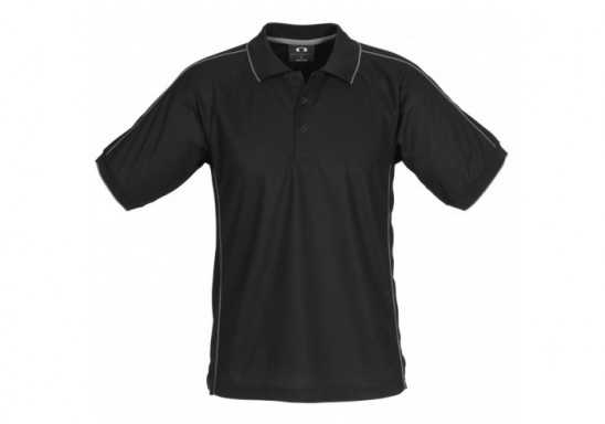 Resort Mens Golf Shirt - Black