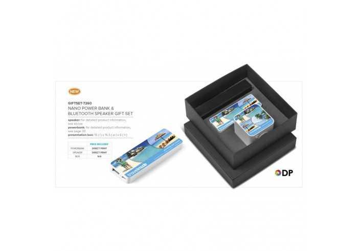 Nano Power Bank And Bluetooth Speaker Gift Set