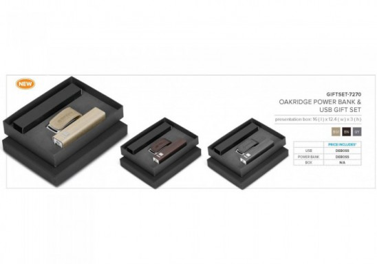 Oakridge Power Bank And Giftset