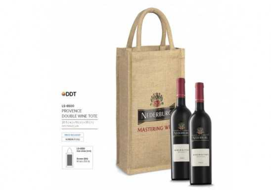 Provence Double Wine Tote - Natural