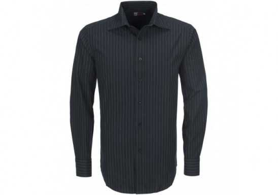 US Basic Pittsburgh Mens Striped Long Sleeve Shirt - Black