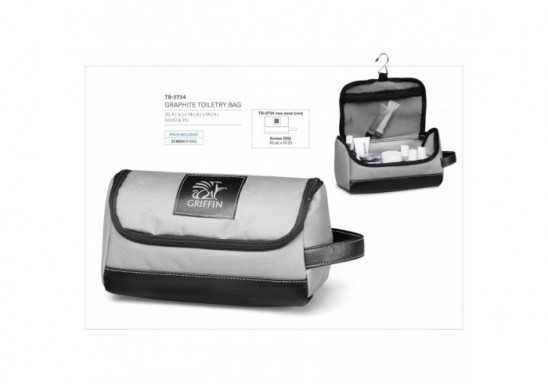 Graphite Toiletry Bag