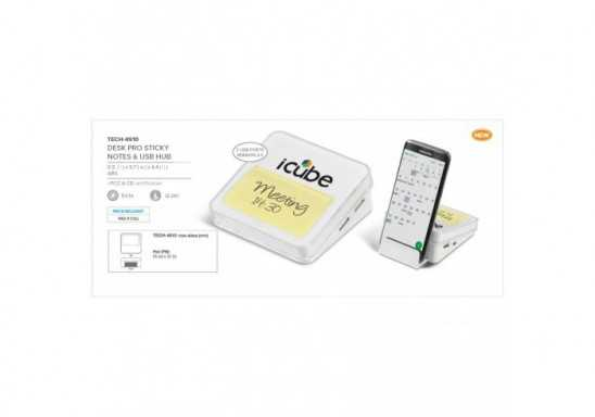 Desk Pro Sticky Notes And USB Hub