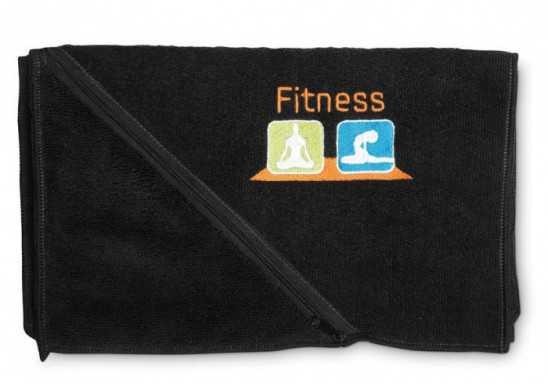 Oblique Sports Towel - Black