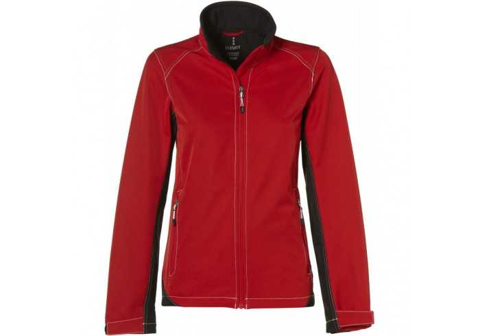Elevate Iberico Ladies Softshell Jacket - Red