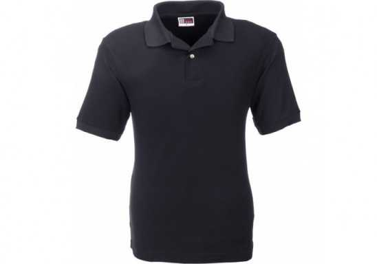 US Basic Boston Mens Golf Shirt - Black