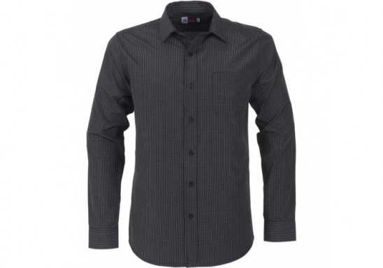 US Basic Huntington Mens Long Sleeve Shirt - Black