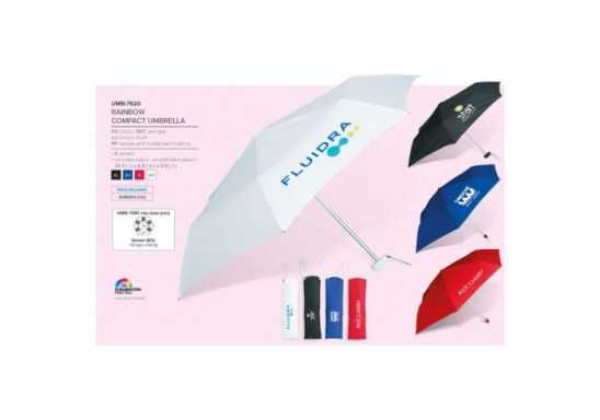 Rainbow Compact Umbrella - Black