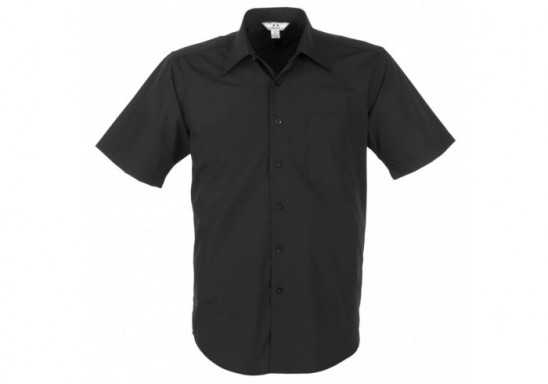 Metro Mens Short Sleeve Shirt - Black