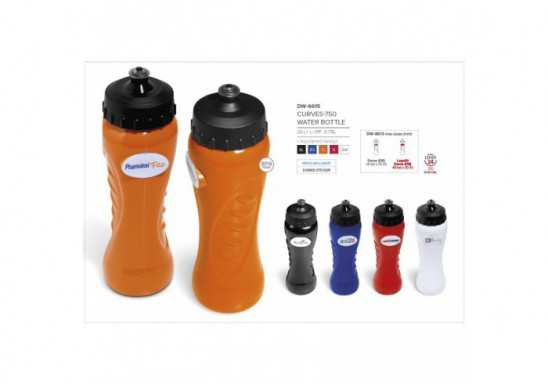 Curves-750 Water Bottle - 750Ml - Black