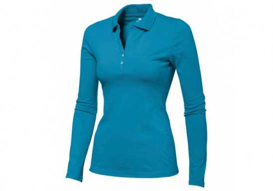 Slazenger Zenith Ladies Long Sleeve Golf Shirt - Aqua