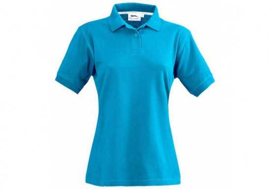 Slazenger Crest Ladies Golf Shirt - Aqua