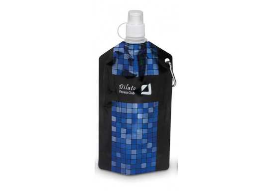 Mosaic Collapsible Water Bottle 740Ml - Blue