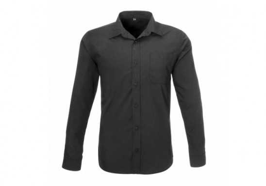 US Basic Mens Long Sleeve Kensington Shirt - Black
