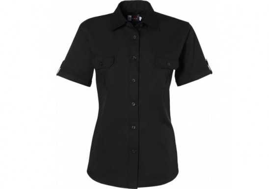 US Basic Safari Ladies Short Sleeve Shirt - Black